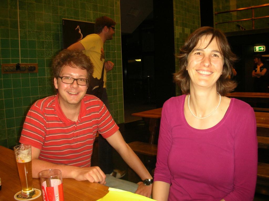 Fabian Fellmann und ZVM-Sekretärin Monika Hame.