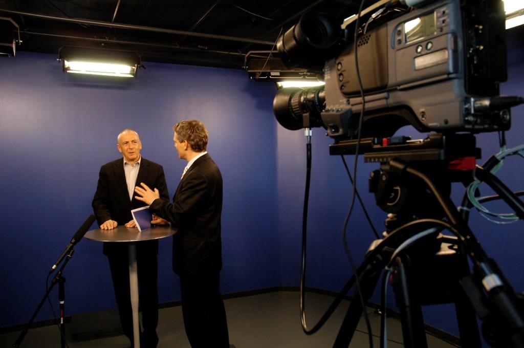 1984 wurde in einer Ecke der Villa Krämerstein ein TV-Studio eingerichtet.