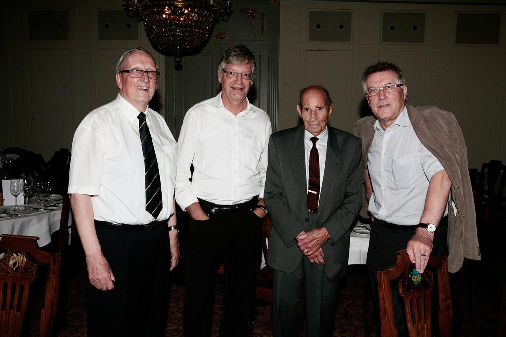 Josef Ritler, Rolf Probala, Alfred Waldis und Kari Bühlmann.