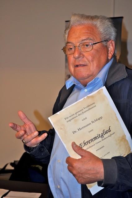 Seit 45 Jahren ist Hermann Schlapp Mitglied des ZVM.