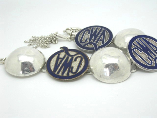 Sterling Silver & CWA Badges - SOLD