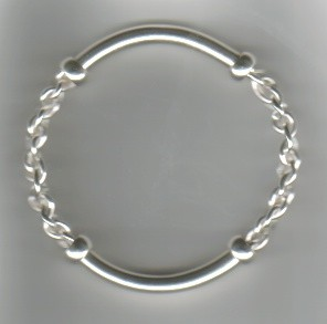 """Half & Half"" Sterling Bangle - SOLD"