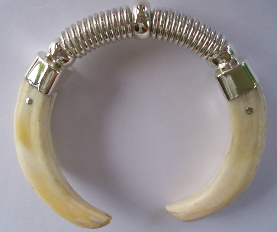 De's - Sterling Silver & Pig Tusks - SOLD