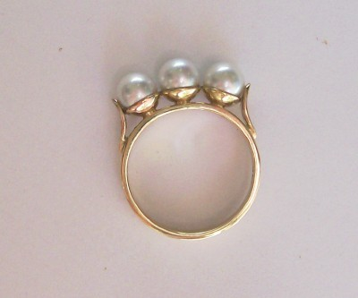"""Maree"" Gold & Pearl Ring"