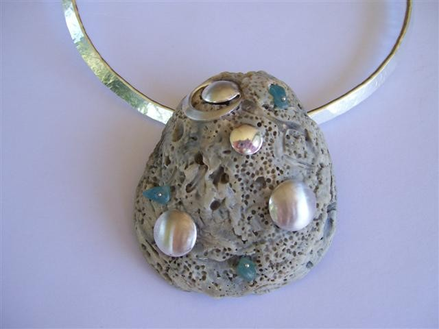 Anna's Wedding Day Shell & Silver Pendant - SOLD