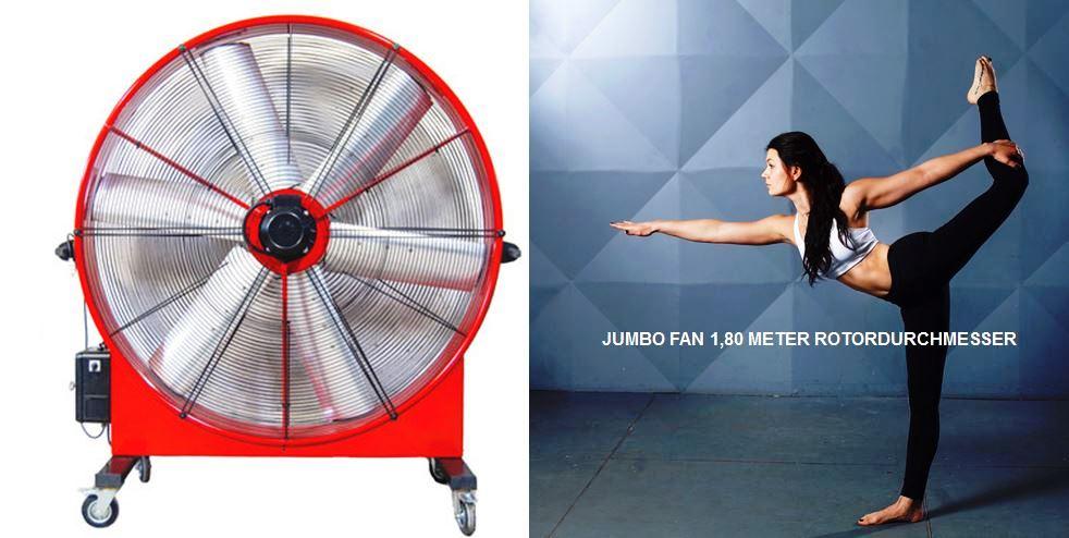 Es bleibt heiß - Jumbo Fan to Go - Miet mich!