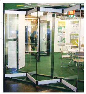 Sistemas para puertas corredizas plegadizas herrajes for Puertas vidrio templado corredizas