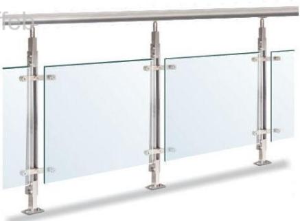 Poste para barandal de acero inoxidable herrajes para vidrio templado y para barandal en mexico - Herrajes de acero inoxidable ...