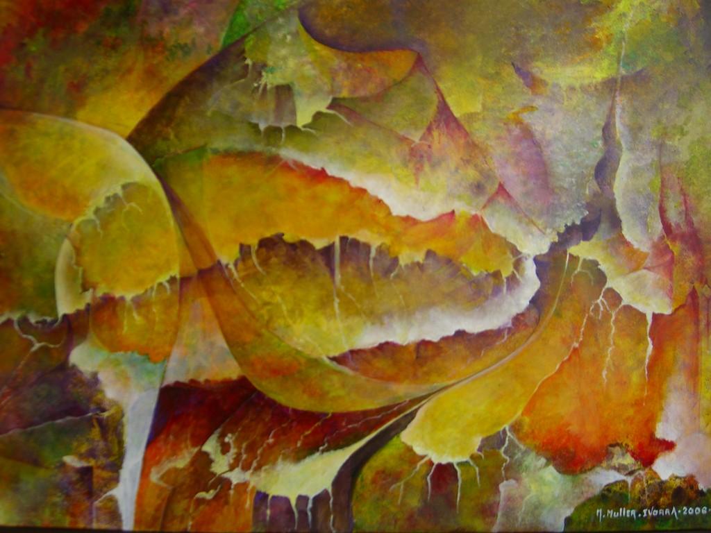 Fournaise :Acrylique sur toile (92x65)