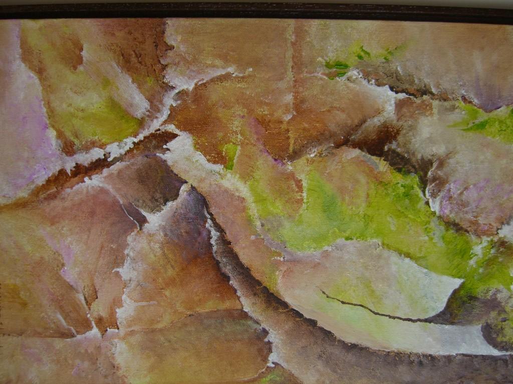 Chrysalide :acrylique sur toile (27x40)