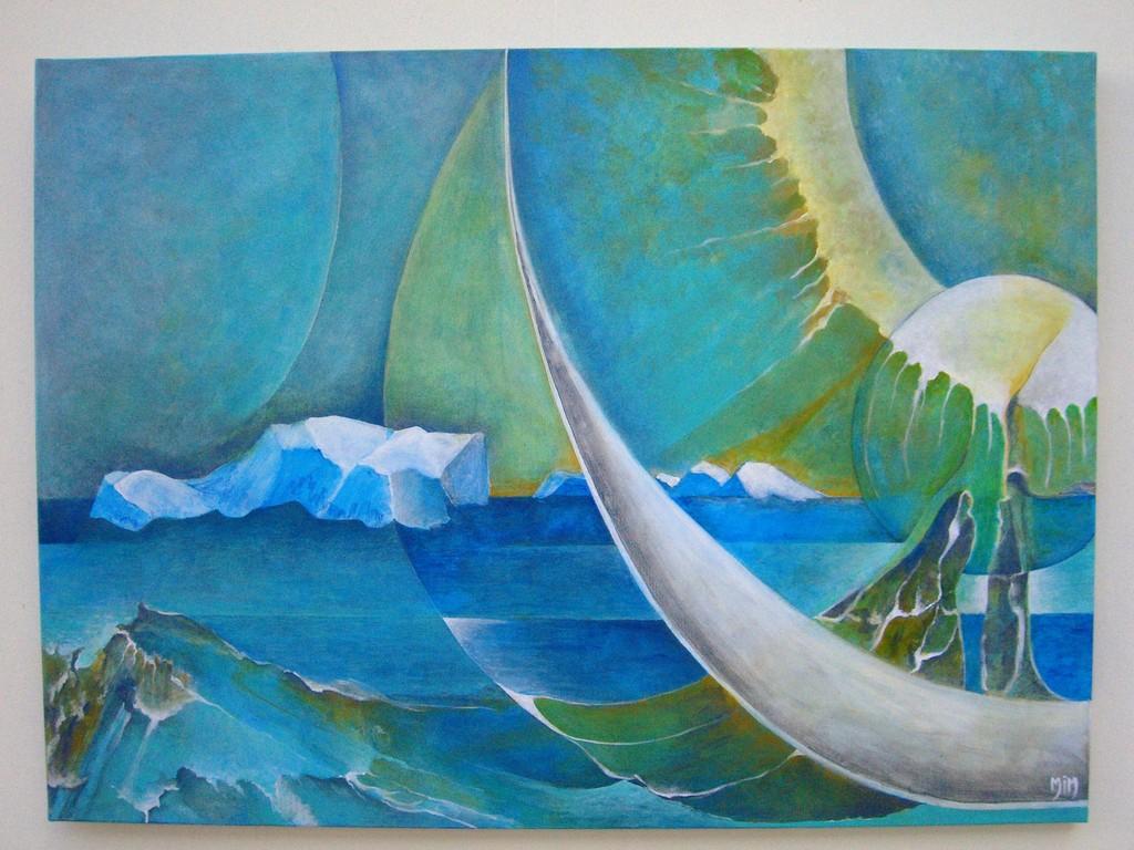 Rêverie sur l'Eau :Acrylique sur toile  (100x80)   3/3