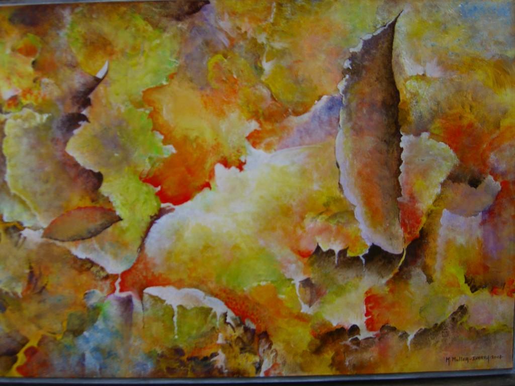 Nuées Arsentes :Acrylique sur toile (92x65)