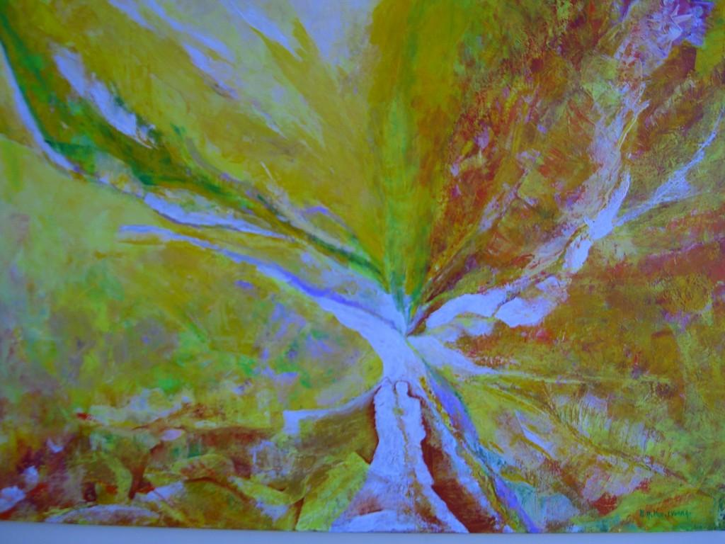 La Génèse :Acrylique sur toile :(92x65)