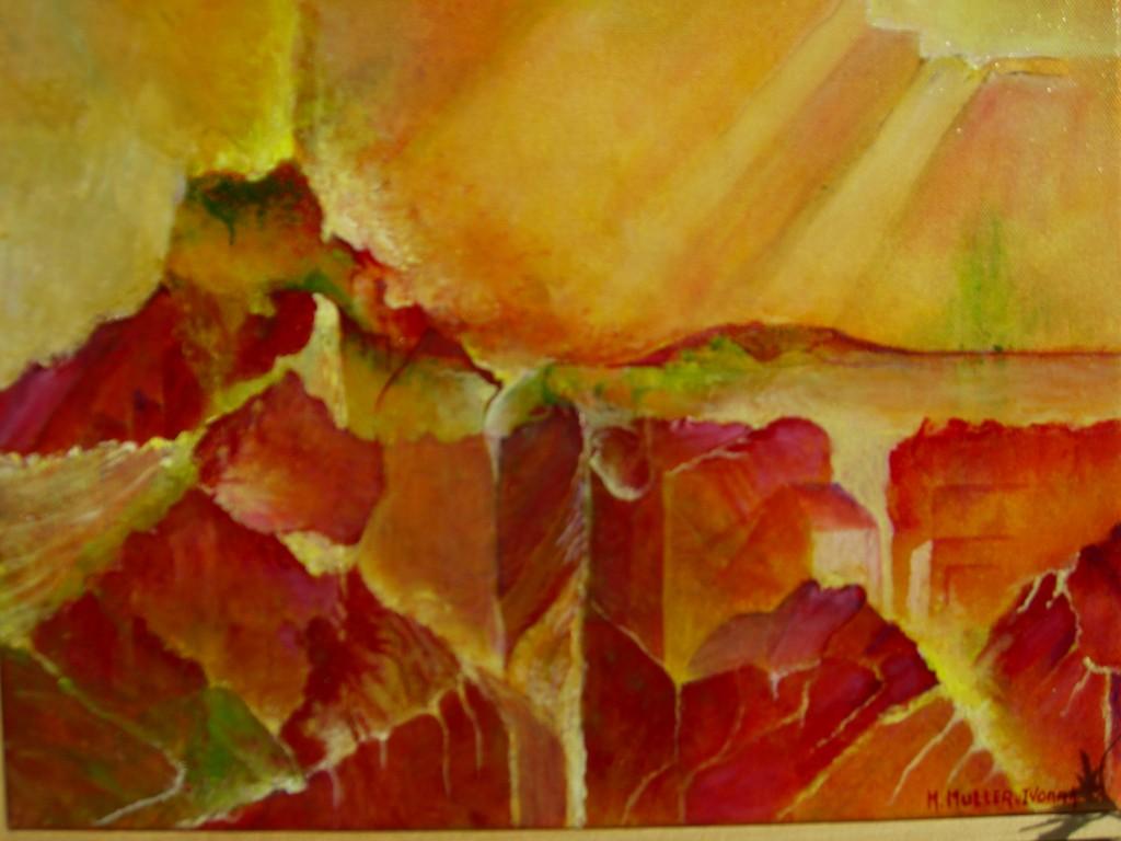 Lumiére sur la ville :Acrylique sur toile (40x40)