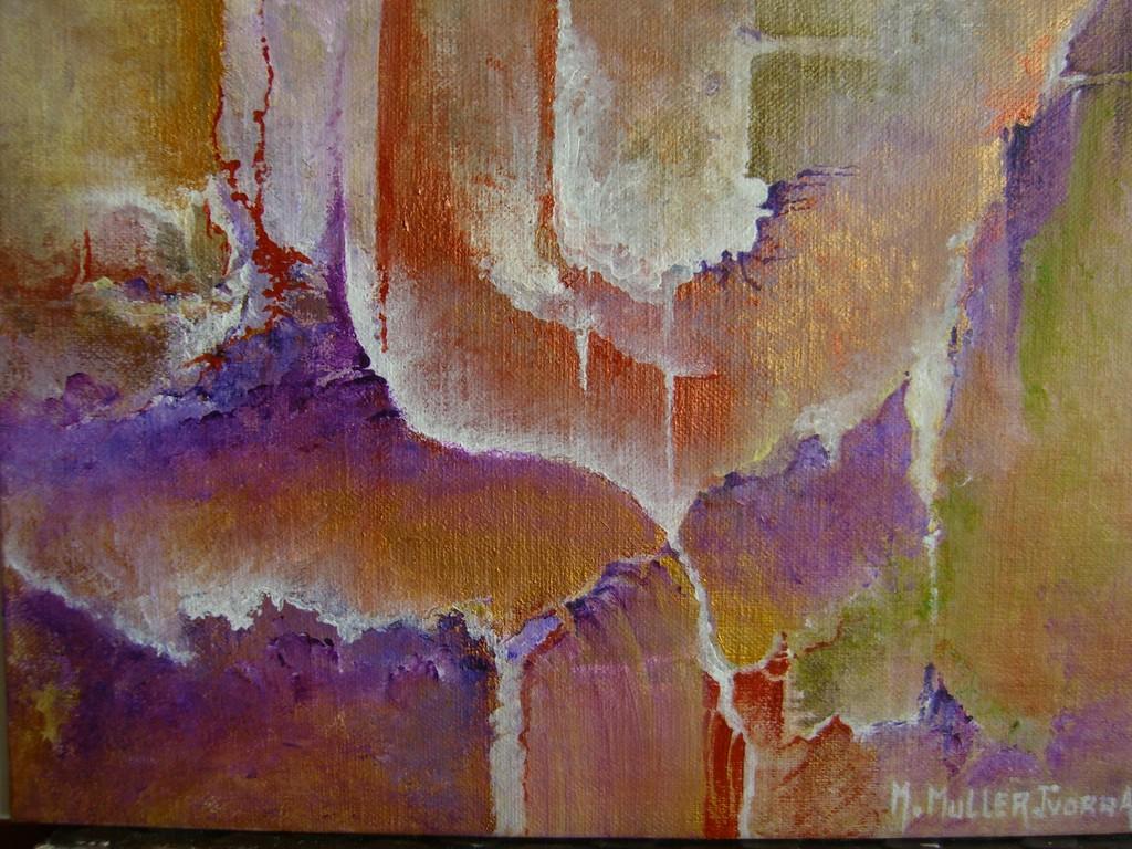 Les Orgues :Acrylique sur toile (30x30)