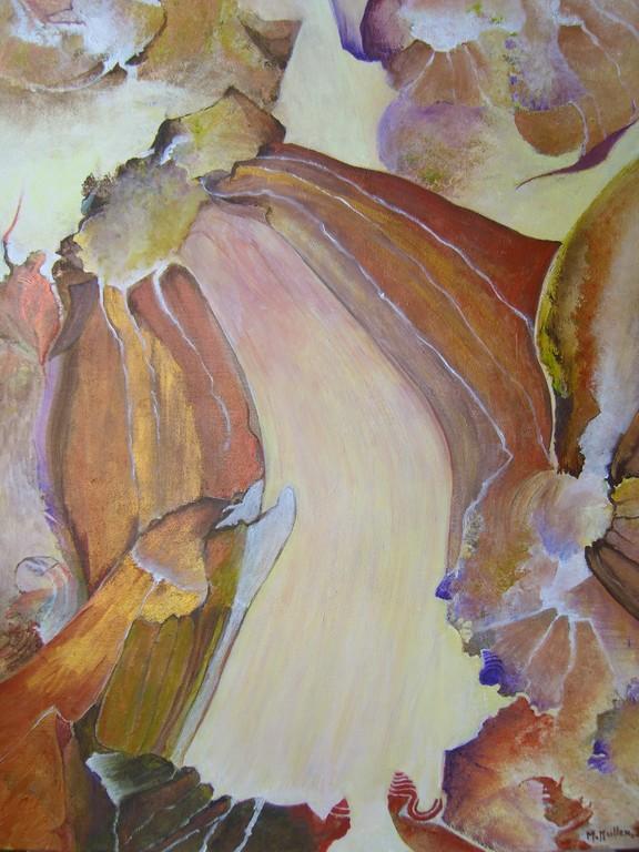 Cascade :Acrylique sur toile ( 60x45)
