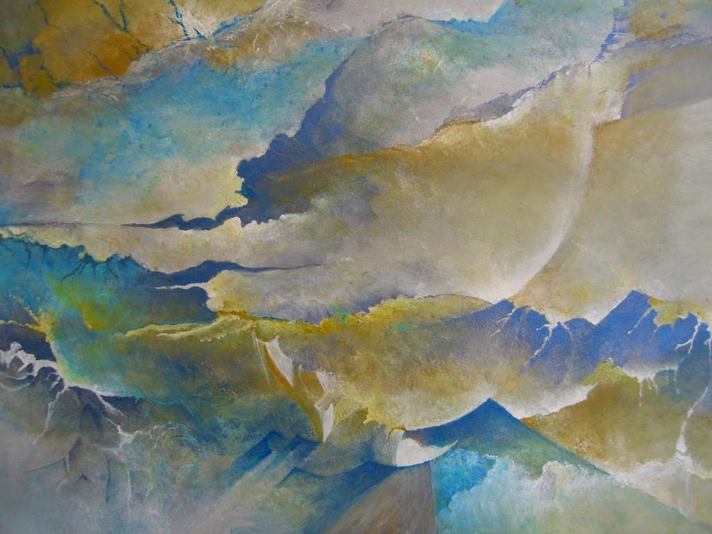 Antartica :Acrylique sur bois (60x40)