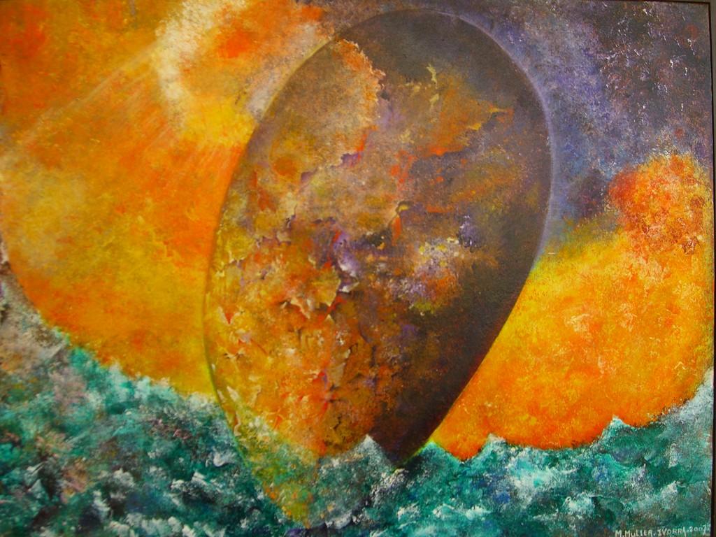 Les Quatre Elements :Acrylique sur toile (92x65)