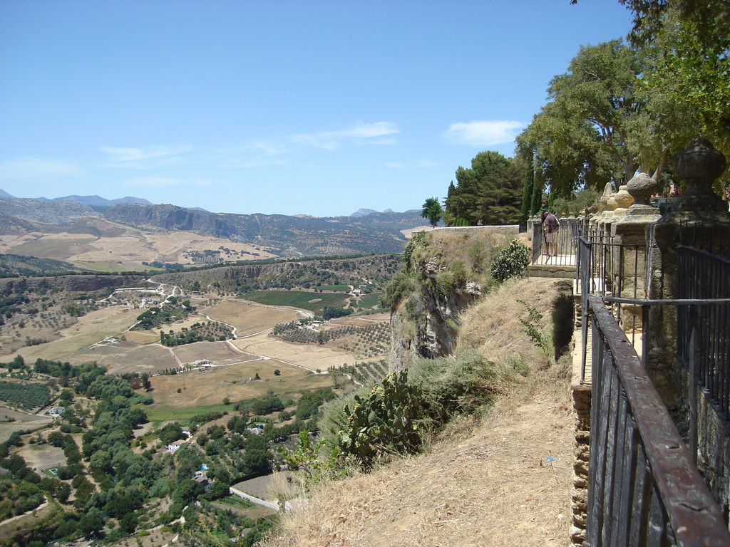 View across the El Tajo gorge