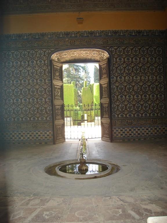 Detail inside the Alcázar