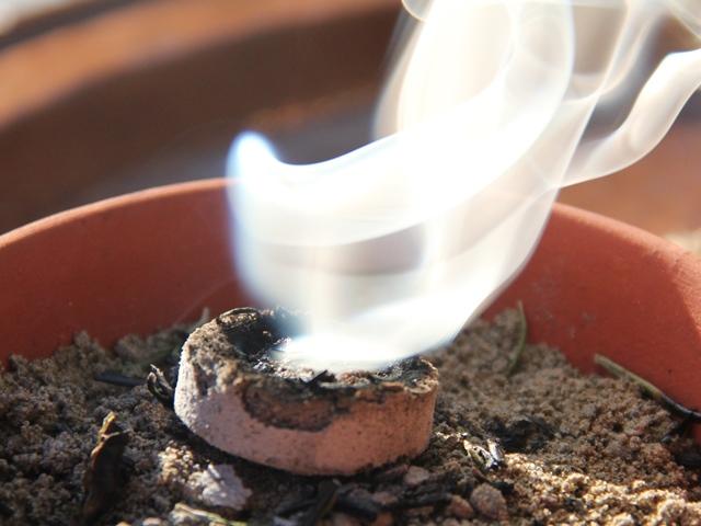 Räucherkohle setzt die heilamen Pflanzenstoffe frei