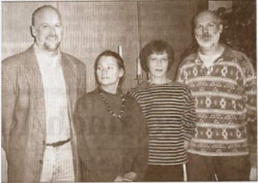 Der Vorstand der Betreuten Grundschule: (v.li.) Johann Hansen, Josephine Bustorff, Kerstin Kentschke, und Gerhard Boll. (we)