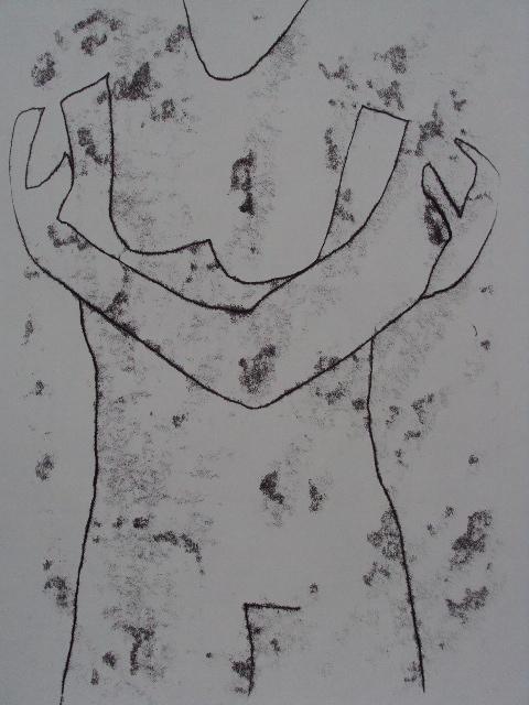 s'embrasser.02, Monotypie auf Papier, 65x50