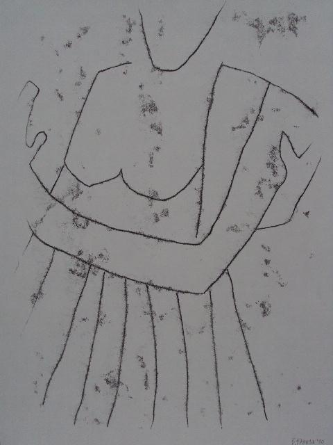 s'embrasser.03, Monotypie auf Papier, 65x50
