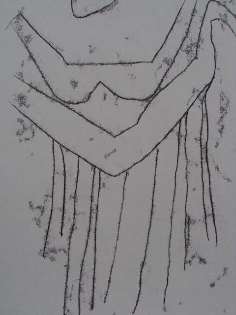 s'embrasser.01, Monotypie auf Papier, 65x50