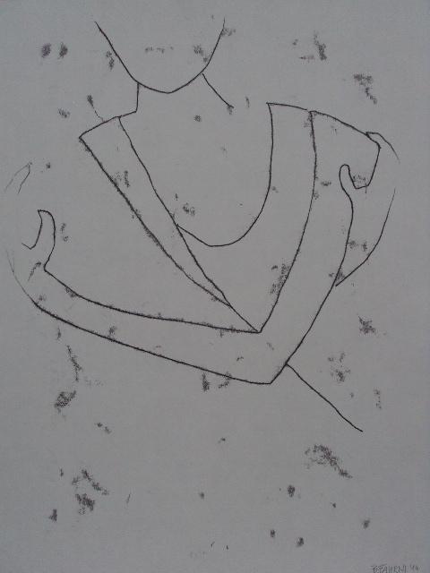 s'embrasser.04, Monotypie auf Papier, 65x50