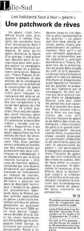 4 Novembre 2003 - La Voix du Nord