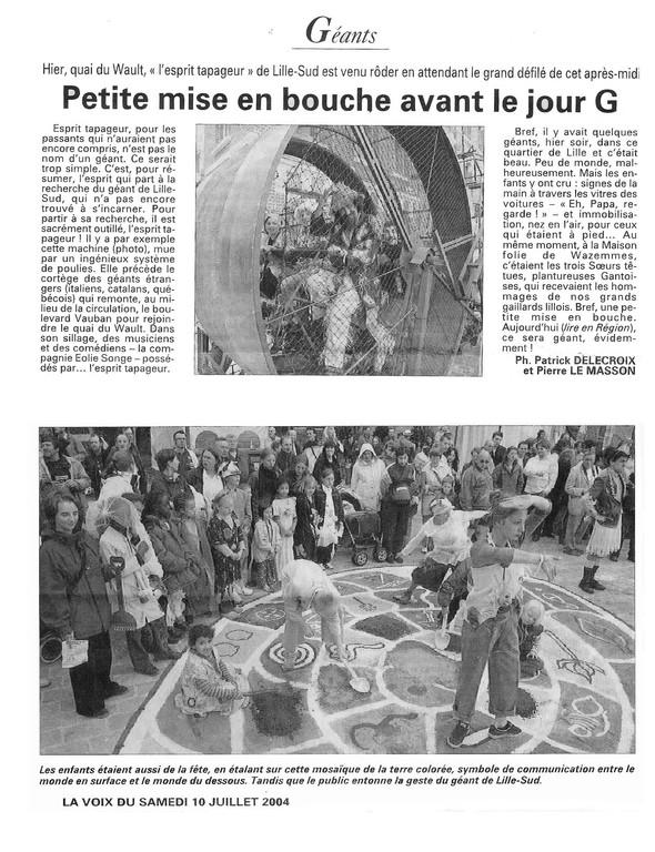 10 Juillet 2004 - La Voix du Nord