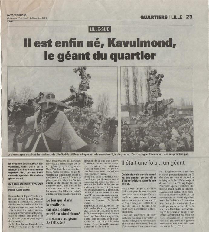 17 Décembre 2006 - La Voix du Nord