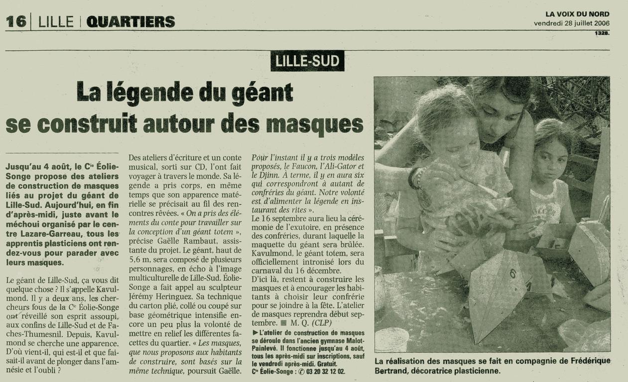28 Juillet 2006 - La Voix du Nord