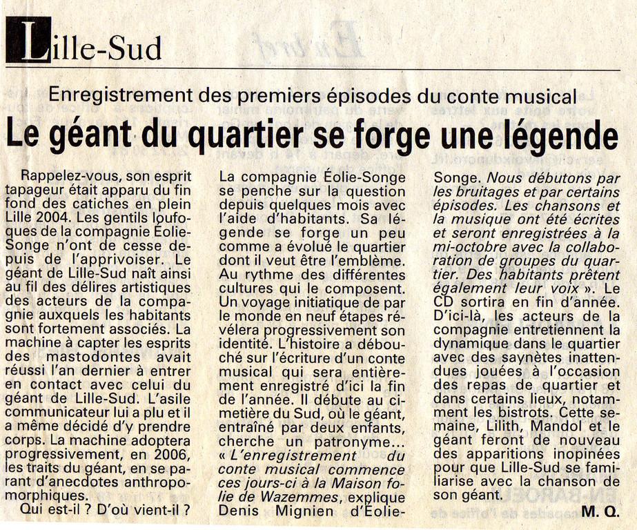 22 Juillet 2005 - La Voix du Nord