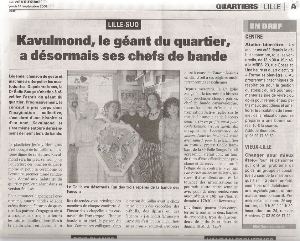 14 Septembre 2006 - La Voix du Nord