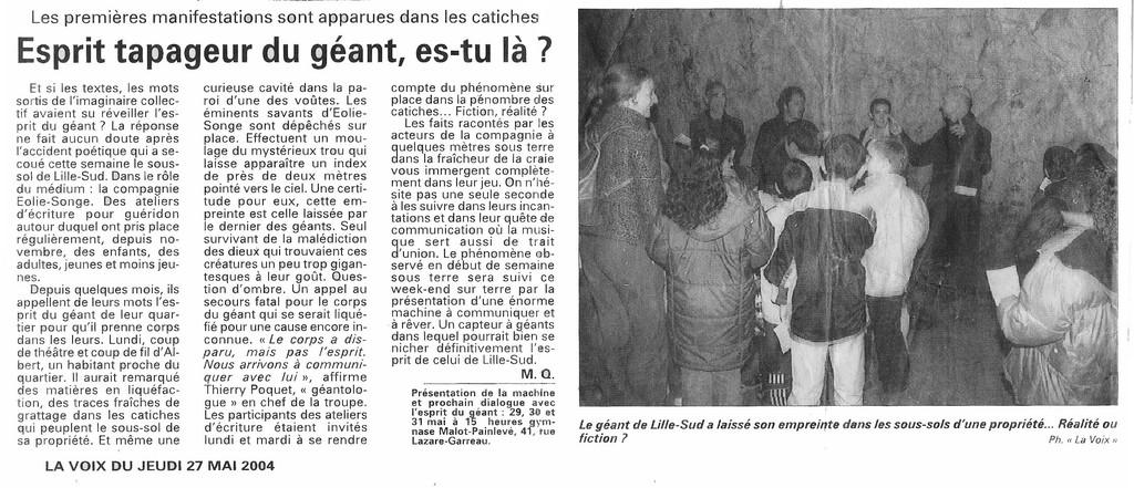 27 Mai 2004 - La Voix du Nord