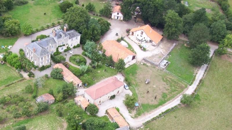 Domaine de La Garneraie vue aérienne