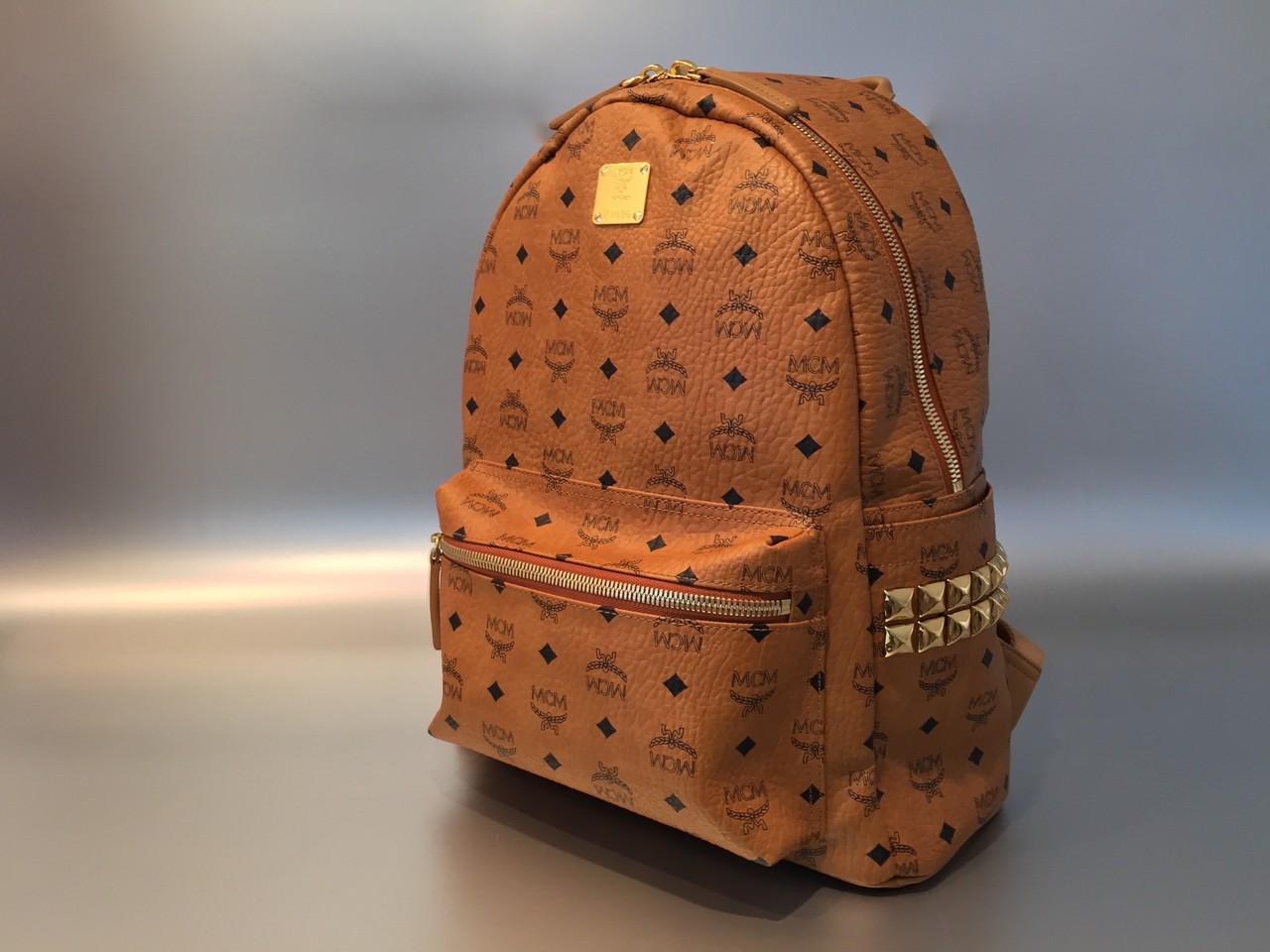 mcm stark rucksack backpack medium in cognac ankauf verkauf second hand designertaschen und. Black Bedroom Furniture Sets. Home Design Ideas