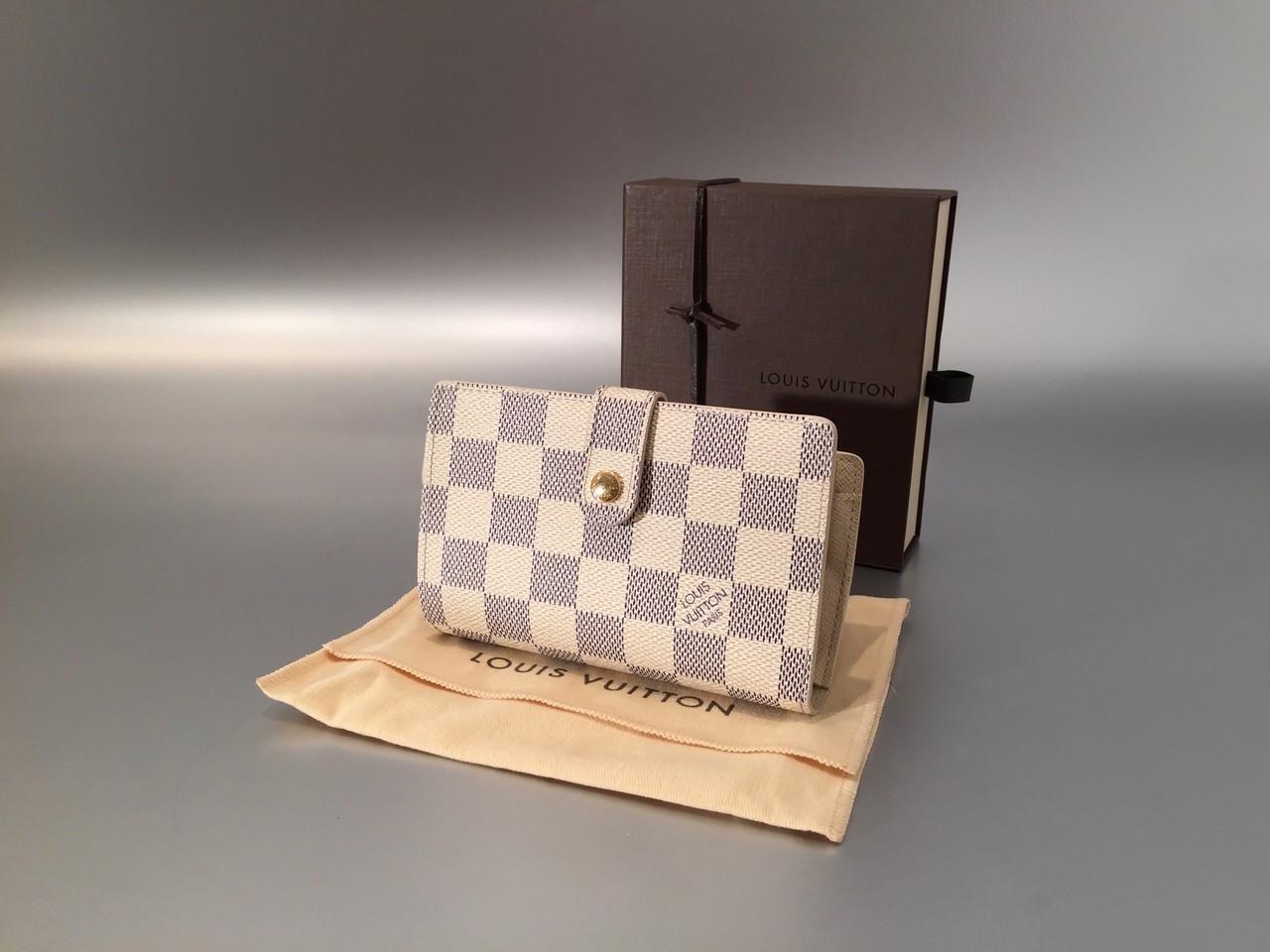 louis vuitton damier azur viennois geldb rse ankauf verkauf second hand designertaschen und. Black Bedroom Furniture Sets. Home Design Ideas