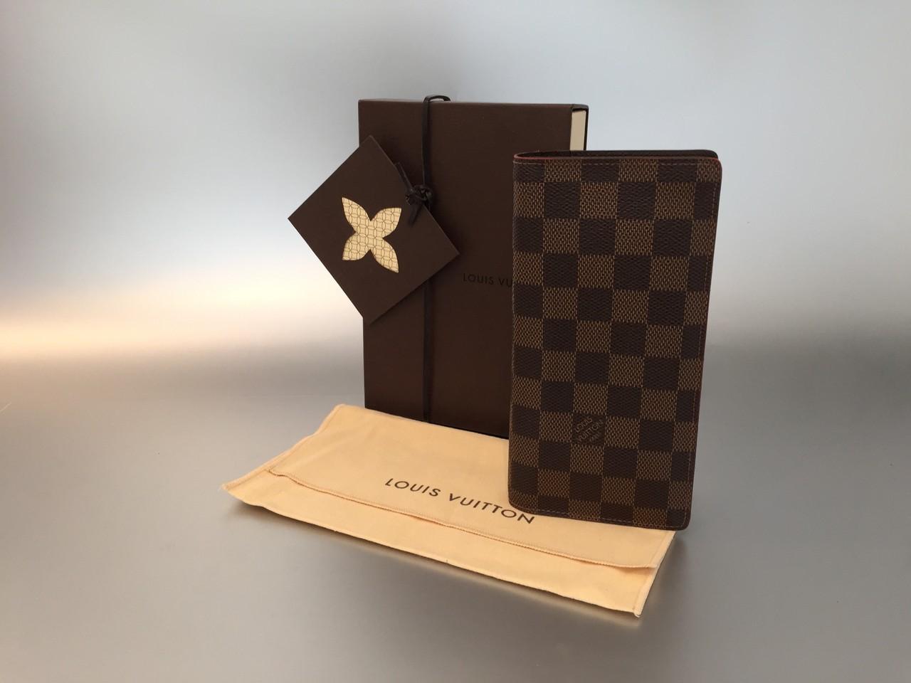 louis vuitton damier ebene brazza geldb rse ankauf verkauf second hand designertaschen und. Black Bedroom Furniture Sets. Home Design Ideas