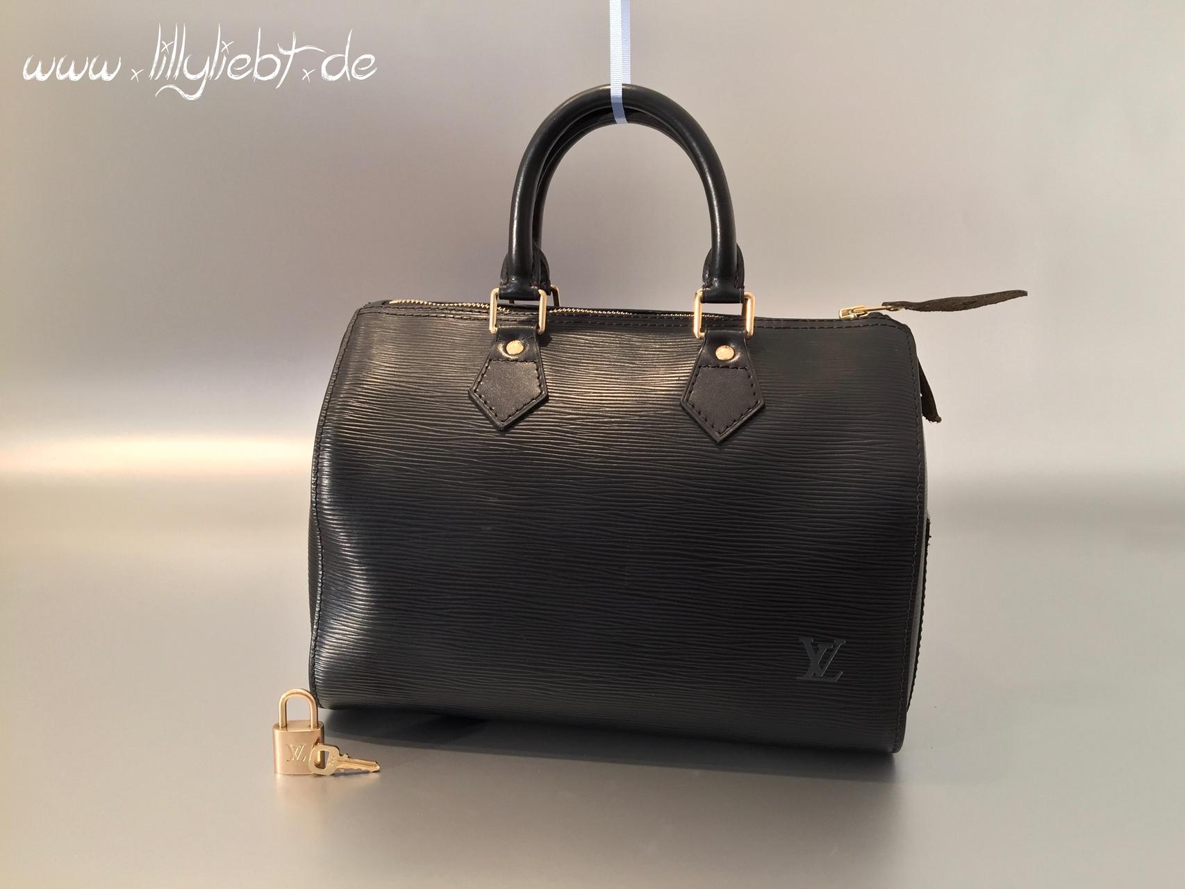 6cc98be38a4c8 Louis Vuitton Epi Speedy 25 in Schwarz - Ankauf   Verkauf Second ...