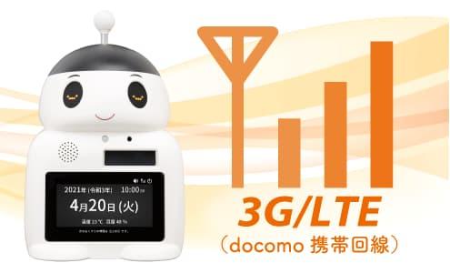 見守り服薬支援ロボット「FUKU助」には、携帯回線による通信装置が標準搭載されています。