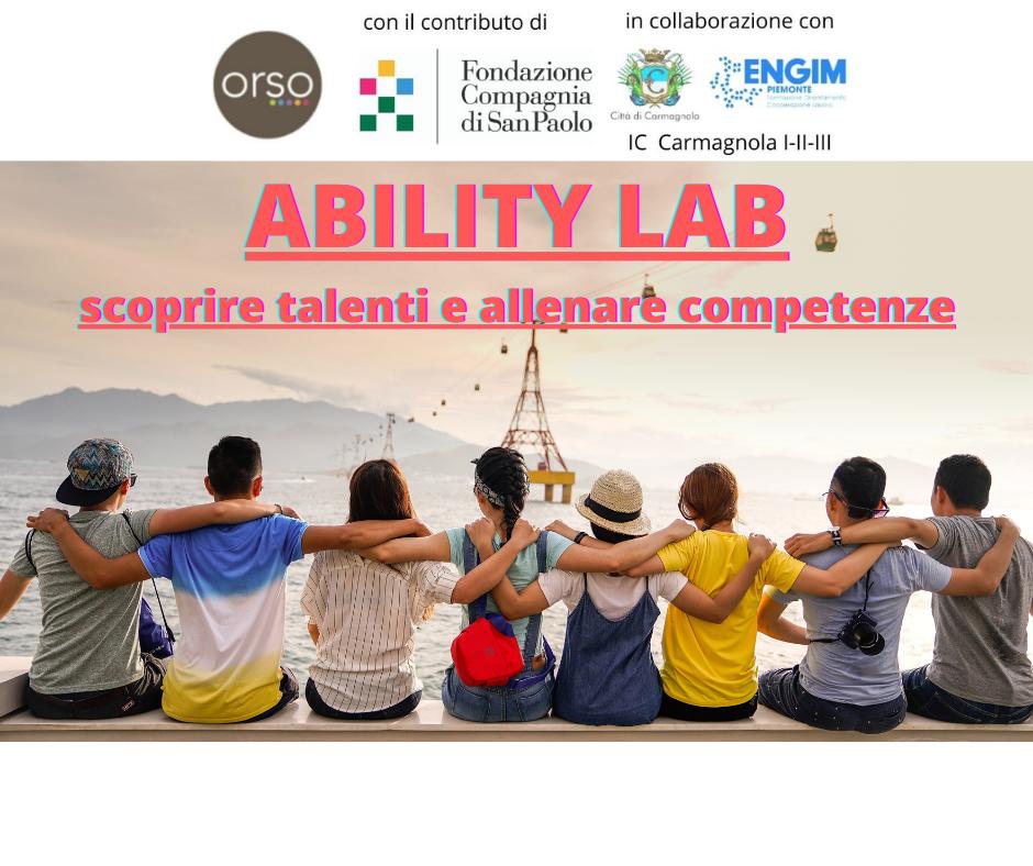 Ability Lab - iscrizioni dal 3 al 13 maggio!