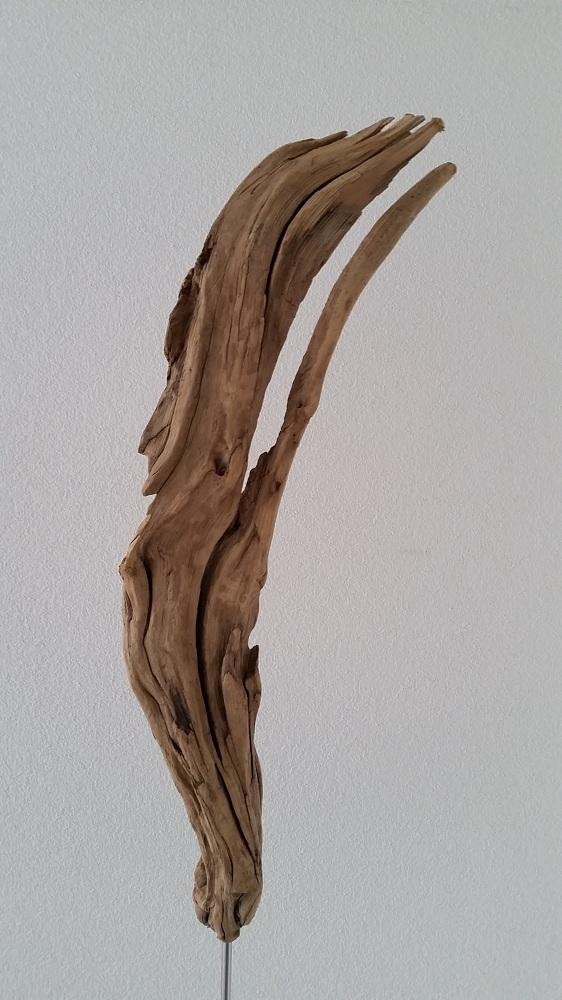 Flamme oder Indianer auf Edelstahl-Skulpturenständerständer