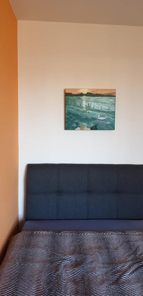 Acrylbild auf Leinwand WASSER im Zimmer