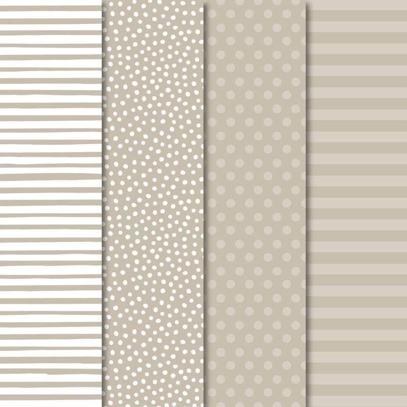 """Designerpapier Neutralfarben: Du erhältst 20 Blatt je 2 pro Farbe in 6"""" x 6"""" (15,2 x 15,2 cm) im Wert von 6,62€"""
