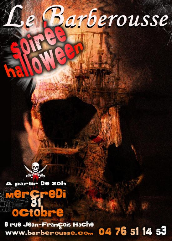 Soirée Halloween au Barberousse Grenoble