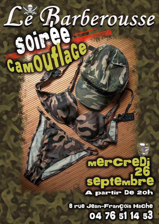 Soirée Camouflage au Barberousse Grenoble