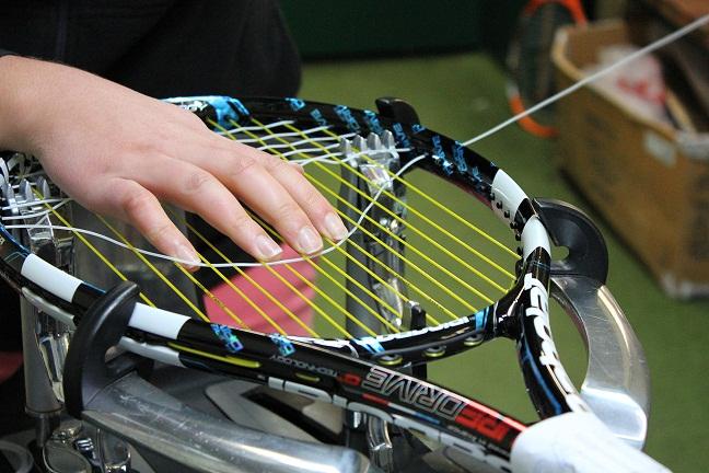 String tennis racquet